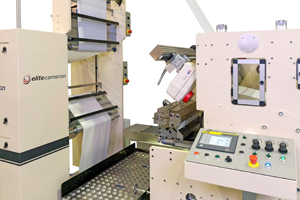 Elitecameron converting machine fitted with NDC coat weight sensor